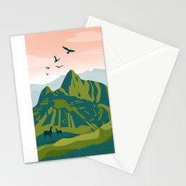 Machu Picchu Illustration by Cindy Rose Studio Stationery Cards