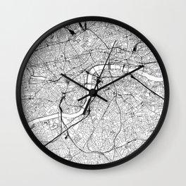 London White Map Wall Clock