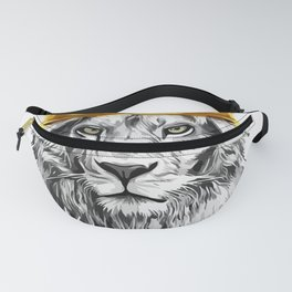 lion with a crown power king Fanny Pack