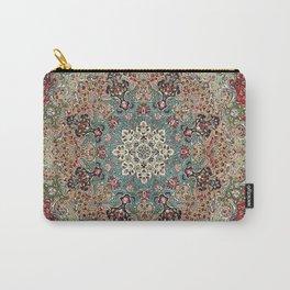 Antique Red Blue Black Persian Carpet Print Tasche