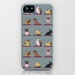 Frenchie Yoga iPhone Case