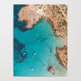 Aerial Ibiza Coast Poster
