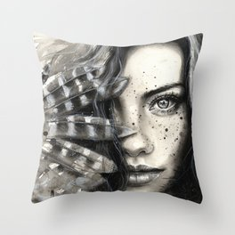 Freckly Throw Pillow