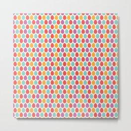 Modern colorful artistic teal pink orange easter eggs pattern Metal Print