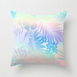 Happy Aloha Pastel Throw Pillow