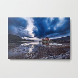Dark Skies at Eilean Donan Castle Metal Print
