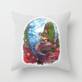 Mermaid Ceto Throw Pillow