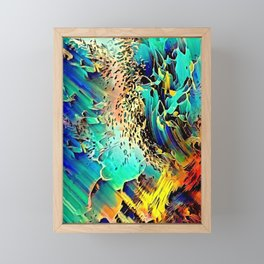 Oceanview reflections colorful abstract Framed Mini Art Print