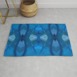 Pattern III Blue Rug