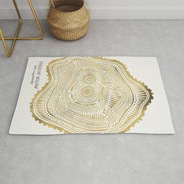 Peachleaf Willow – Gold Tree Rings Rug