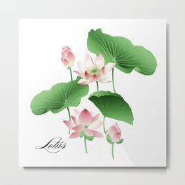 Lotus Pattern Metal Print