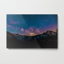 Mountain Stars Metal Print