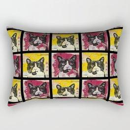 Ted Grid Rectangular Pillow