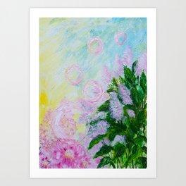 Summer Bubbles Art Print