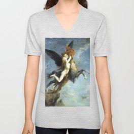 Gustave Moreau The Chimera Unisex V-Neck