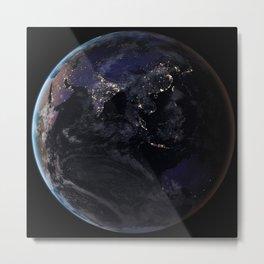 The Earth at Night 2 Metal Print