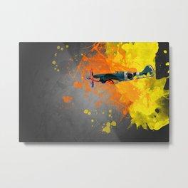 Spitfire Modern Art Metal Print