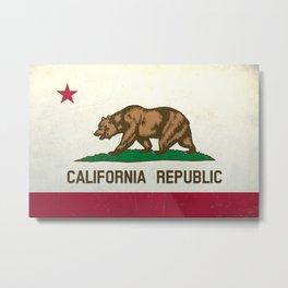 state of California flag  Metal Print
