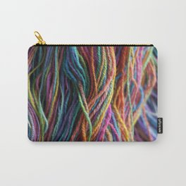 Rainbow Multi-color Handspun Yarn Carry-All Pouch
