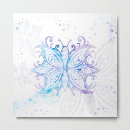Butterfly Abstract G540 Metal Print