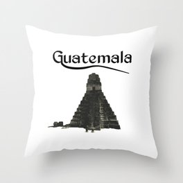 Guatemala Tikal Quetzal Chapin Guate Antigua Peten Maya Puchica Gift Retro Throw Pillow