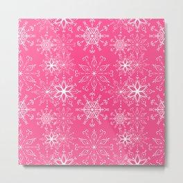 Dainties Bold Pink Metal Print