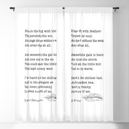 Emily Dickinson Hope is the thing with feathers  Blackout Curtain