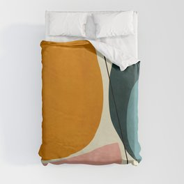 shapes geometric minimal painting abstract Duvet Cover