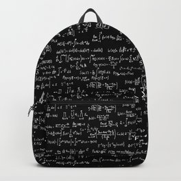 Math Equations // Black Backpack