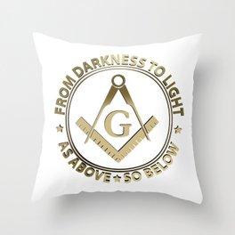 Freemasonry emblem Throw Pillow