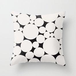 Circular Collage - Black & White II Throw Pillow