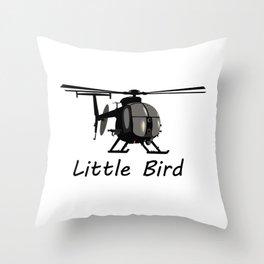 MH-6 Little Bird Helicopter Throw Pillow
