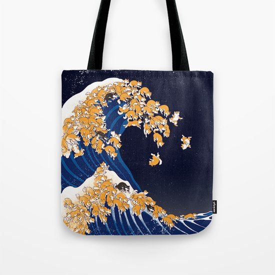 Shiba Inu The Great Wave in Night by bignosework