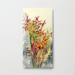 Heliconia Bouquet Metal Print