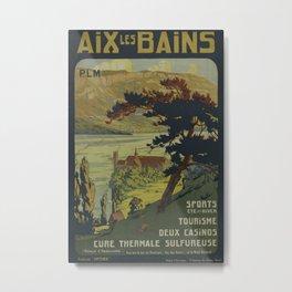 Aix les Bains Vintage Travel Poster Metal Print