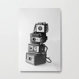 Camera Stack Metal Print