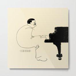 Jazz Lines: Oscar Peterson Metal Print