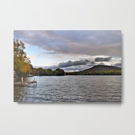 Lake George: Autumn Storm on the Horizon Metal Print