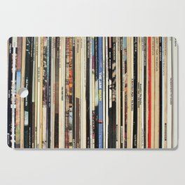 Classic Rock Vinyl Records Cutting Board