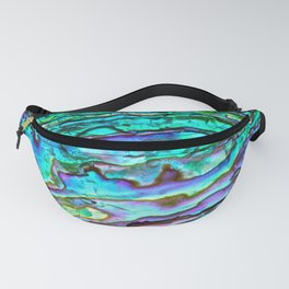 Glowing Aqua Abalone Shell Mother of Pearl Fanny Pack