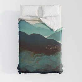 Indigo Mountains Duvet Cover