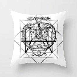 Hermetica Moderna - The Sight of Janus Throw Pillow