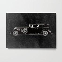 Retro car pattern Metal Print