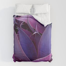 Leaves Abstract Magenta Pink Purple Comforters