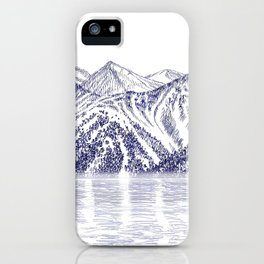 TURNAGAIN ARM AND THE CHUGACH RANGE ON THE COOK INLET ALASKA iPhone Case