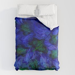 Blue And Green Marble Abstract Comforters