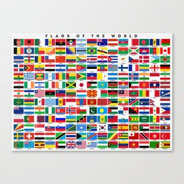 Flags Of The World Canvas Print