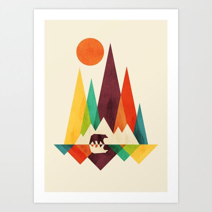 Bear In Whimsical Wild Kunstdrucke