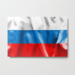 Russian Federation Flag Metal Print