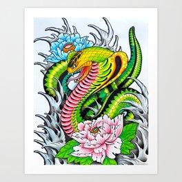 "'Protection' 11"" x 14"" Colored Pencil on Bristol Board 2012 Dan Gribben Art Print"